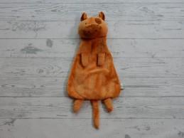 Natalis knuffeldoek knuffellap velours oranje bruin Koe