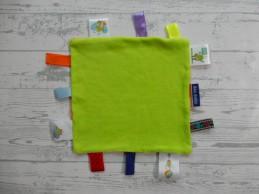 Ikke doekje Rabobank labeldoekje velours groen oranje labels