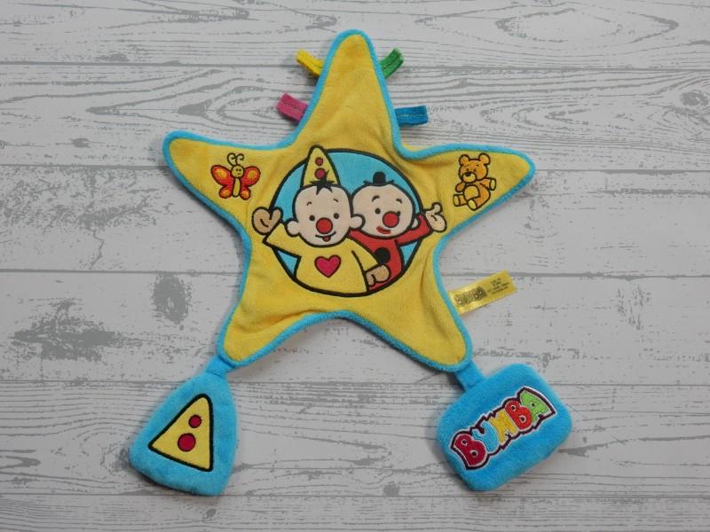 Bumba knuffeldoek velours geel blauw ster Bumba Bumbalu