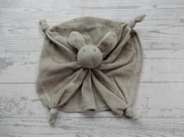 La Petite Couronne knuffeldoek velours grijs konijn