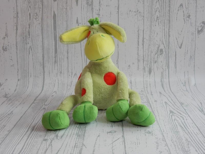 Happy Horse knuffel velours groen rood stippen ezel Patient 2006