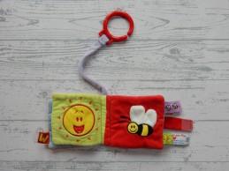 Woezel en Pip buggyboekje velours oranje lila rood 2010