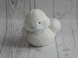 BamBam pluche knuffel velours wit blauw eend Duck