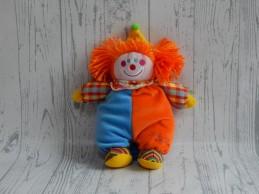 Tiamo Collection knuffel rammelaar velours blauw oranje Clown