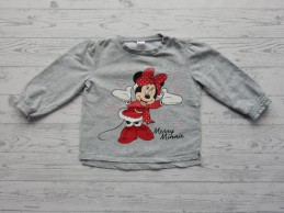 Disney baby sweater lichtgrijs Merry Minnie maat 80-86