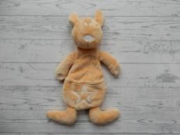 Difrax knuffeldoek knuffellap velours geel bruin Kangoeroe Ken