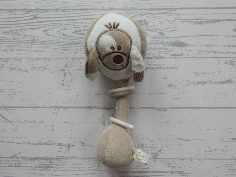 Tiamo rammelaar velours wit beige bruin ringen Sem de Hond