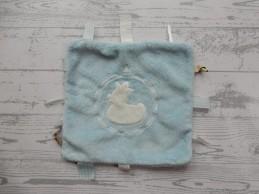 BamBam knuffeldoek labeldoek blauw eend duck duck blue