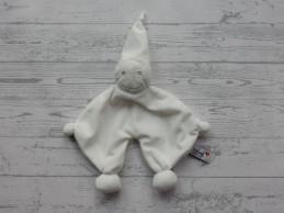 Prenatal knuffeldoek tuttel tutpopje wit zilver