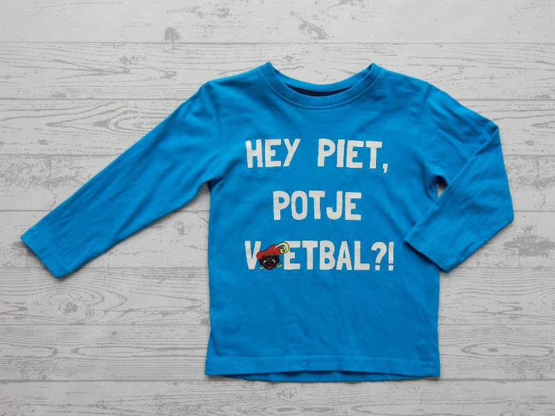 Scamps & Boys longsleeve blauw Piet potje voetbal maat 92-98