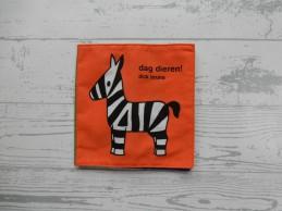 Dick Bruna knisperboekje stof oranje groen geel Dag Dieren!