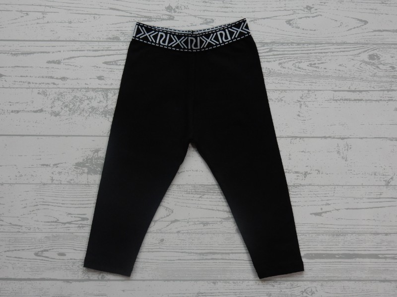 River Island mini Branded legging zwart black maat 80