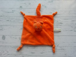 Dikkie Dik Jet Boeke knuffeldoek velours oranje rood