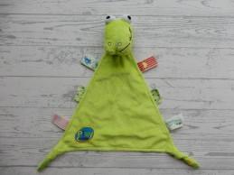 Evora Play in Kids knuffeldoek velours groen krokodil kikker Nieuw