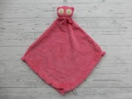 Angel Dear Blankie knuffeldoek knuffellap velours roze uil Pink Owl