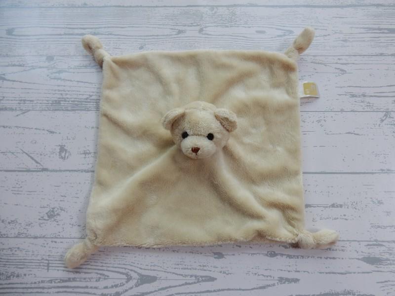 Jonge Gezinnen knuffeldoek velours beige beer