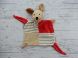 Sterntaler knuffeldoek velours beige bruin rood Hond Hanno
