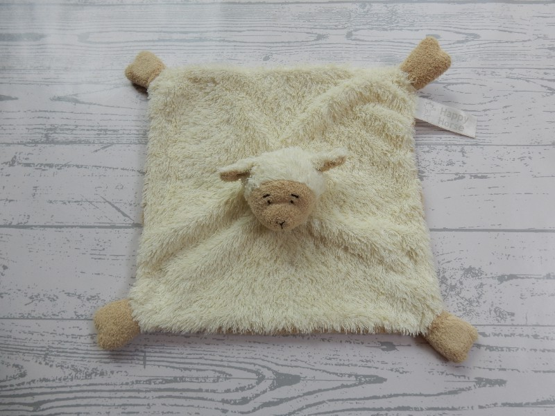 Happy Horse knuffeldoek beige bruin schaap Lammy