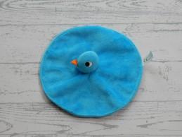 Imagebooks knuffeldoek rond velours blauw kuiken eend vogel