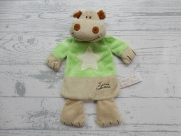 Tiamo knuffeldoek beige bruin groen nijlpaard Harry Hippo