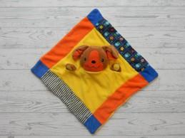 Otto Simon bv knuffeldoek badstof velours geel oranje bruin Hond