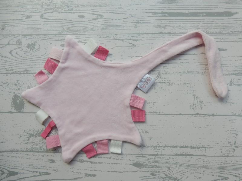 VIB knuffeldoek tutteldoek speendoek velours roze ster