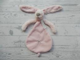 Happy Horse knuffeldoek velours wit Rabbit Richie tuttle Roze