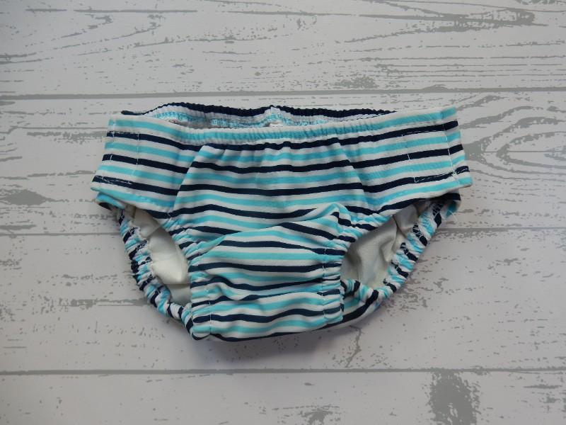 Prenatal zwemluier blauw donkerblauw gestreept maat 62-68