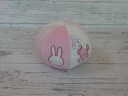 Nijntje rammelaar velours gebreid wit roze Bal