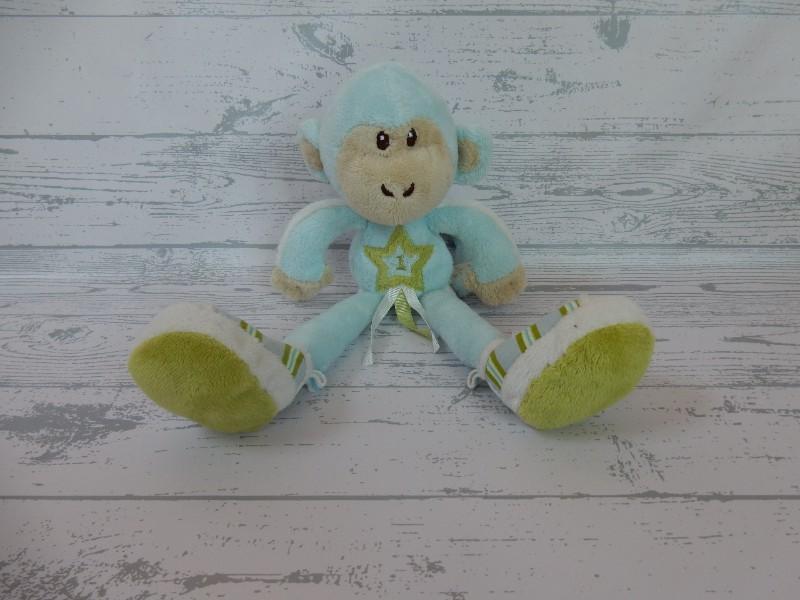 Happy Horse AH knuffel velours blauw groen Sporty Aap 1