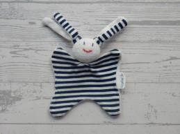 Keptin Jr knuffeldoek knuffelpopje tricot marine gestreept Girly
