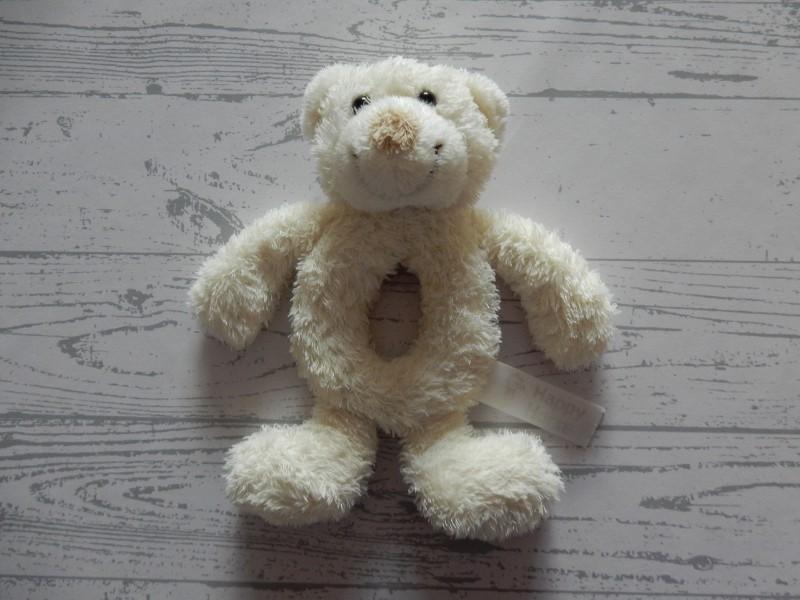 Happy Horse pluche knuffel rammelaar ivoor wit beer Boogy
