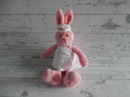 Happy Horse pluche knuffel velours roze konijn Nurse Nell 2007