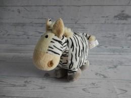 Tiamo knuffel velours wit zwart strepen Zebra nr. 1