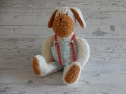 Käthe Kruse knuffel badstof beige bruin hond hund Toni Maroni