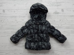 Tumble 'n Dry meisjes winterjas dark grey birds vogels Gelien maat 74