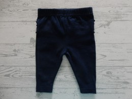 Just Born legging donkerblauw navy ruches