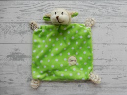 AM 63 Wibra knuffeldoek velours lime groen schaap Sheep