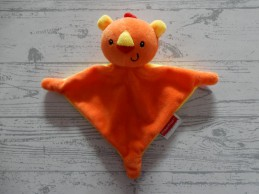 Fisher Price knuffeldoek knuffellap velours oranje geel tijger