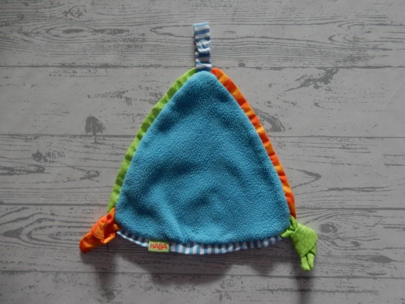 Haba knuffeldoek speendoek fleece blauw Flauschelino