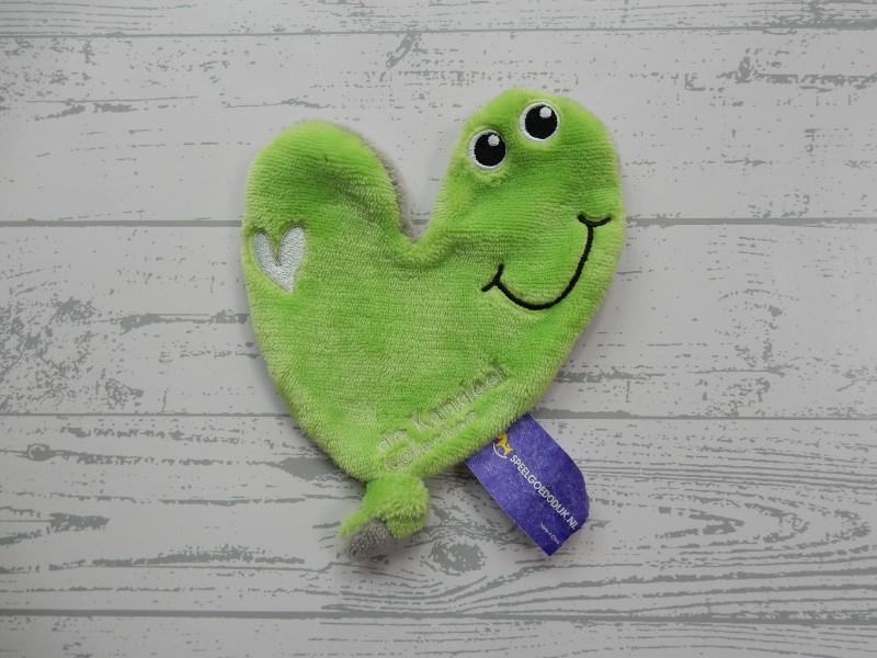 Zwangerin De Kandeel knuffeldoek velours groen grijs hart Willem