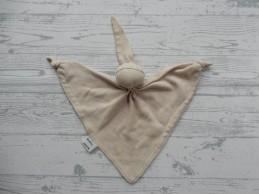 Bambino knuffeldoek tricot katoen beige Spookje