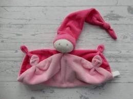Difrax softdoek knuffeldoek soft lichtroze roze groot