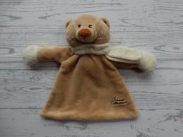 Tiamo Collection knuffeldoek rammelaar beige bruin sjaaltje beer Bruno