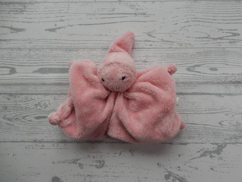Difrax knuffeldoek softdoek tutpopje lichtroze roze