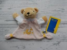 Cause knuffeldoek velours roze maan beer Nieuw!