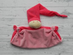 Difrax softdoek knuffeldoek soft ecru lichtroze roze groot