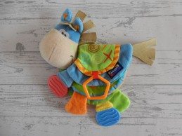 Playgro Toy Box Clip Clop activity stoffenboek bijtstuk Ezel