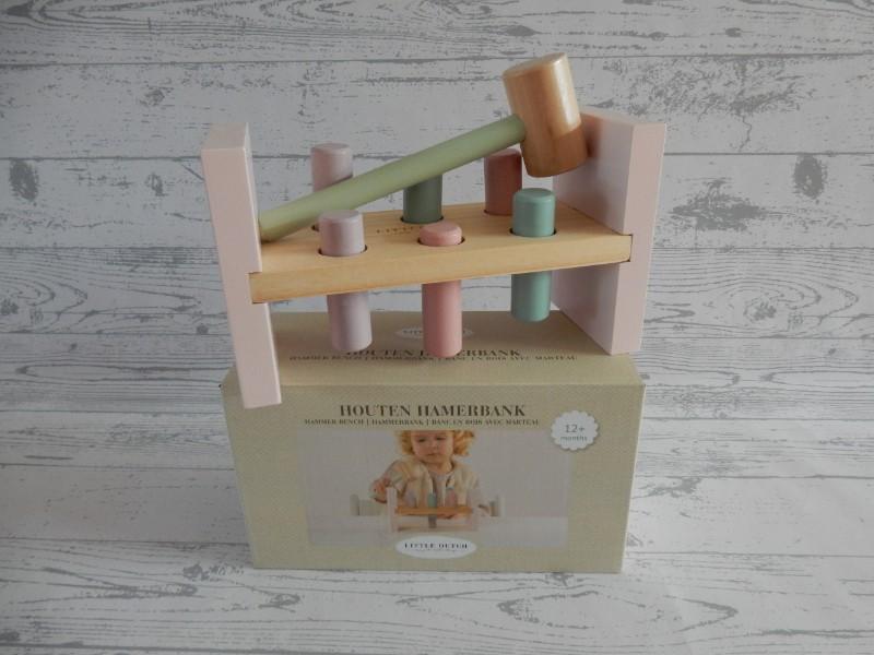 Little Dutch Tiamo houten hamerbank Adventure Pink