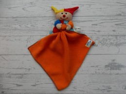 Simba Baby harlekijn clown rood oranje blauw knuffeldoek